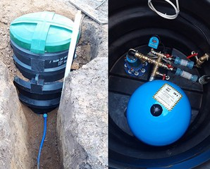 Монтаж пластикового кессона для защиты Вашей скважины в зимнее время года